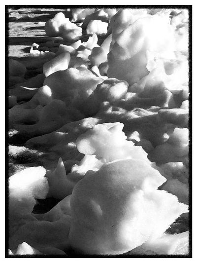 The art of water and wind on ice Abstract Black And White Carved Snow Nature Art No People Cold Temperature Winter Close-up Nature