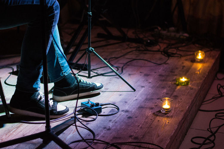 Candles Concert Floor Footwear Human Foot Legs Lifestyles Men Music Musican Scene Shoes The Magic Mission Wire People And Places Art Is Everywhere EyeEm Selects