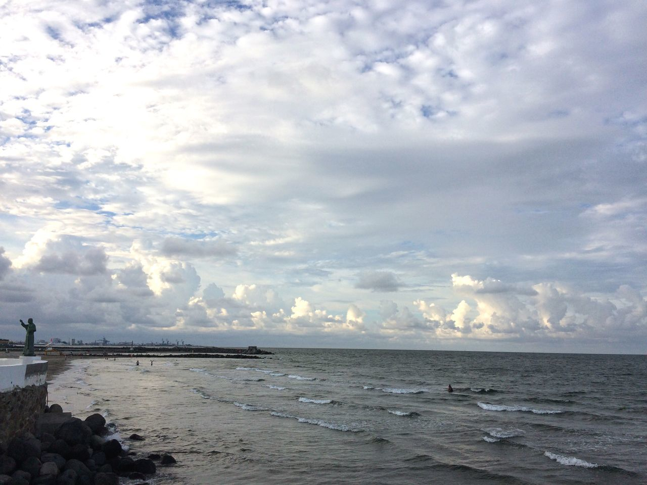 sea, water, beauty in nature, nature, beach, sky, cloud - sky, tranquility, tranquil scene, scenics, horizon over water, outdoors, no people, travel destinations, sand, vacations, day, architecture