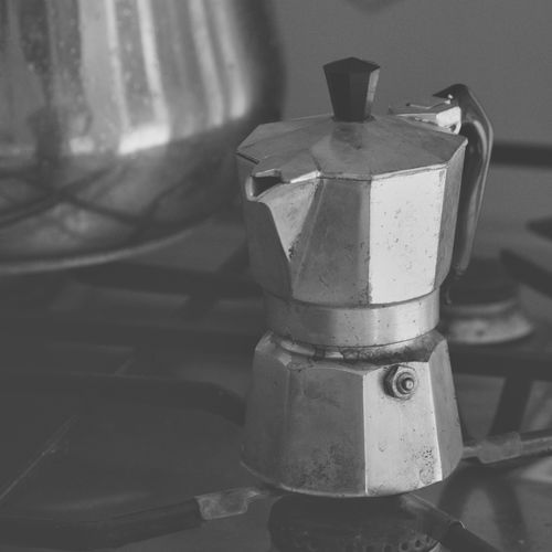 Moka Appliance Stove Indoors  Close-up Focus On Foreground Metal Food And Drink No People Coffee Maker Preparation  Domestic Room Still Life Coffee Pot Camping Stove Coffee Espresso Espresso Machine Home Made Coffee Coffee Machine Moka Mocha Old Kitchen Utensil Coffee Utensils