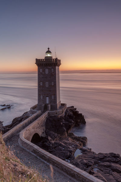lighthouse at sunset Bretagne Bretagne France Brittany France Francia Sunset_collection Building Exterior Canon Canonphotography Guidance Horizon Over Water Landscape Le Conquet Lighthouse Ligthouse Long Exposure No People Phare Scenics Sunset Water Wave