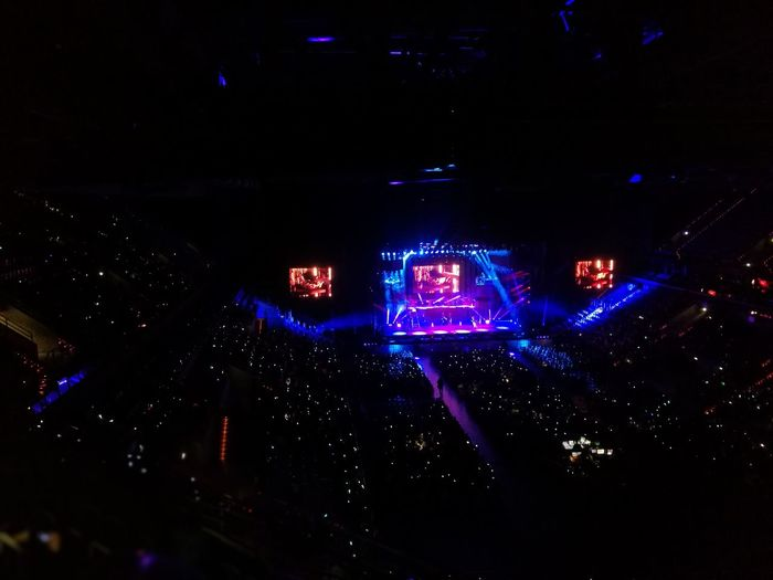 Been there... Soy Luna in concert Been There. Huawei P9 Leica Huaweiphotography Soy Luna Concert Photography Sap Arena Mannheim Crowd Of People Performing Arts Event Artifical Light Night Energie Fun Show Colors Close-up