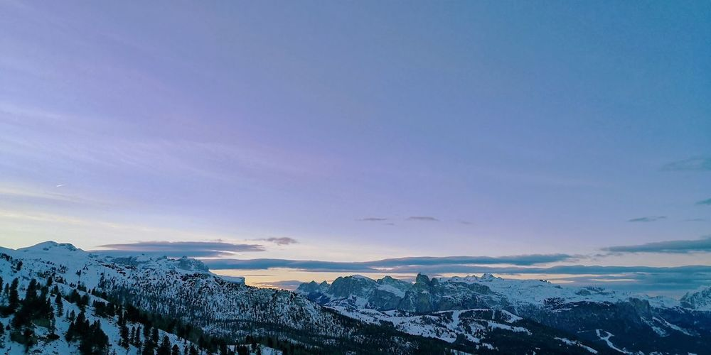 EyeEm Nature Lover Dramatic Landscape Sky And Clouds Sky_collection EyeEm Selects EyeEm Best Shots Cortina D'Ampezzo Astronomy Mountain Snow Sunset Blue Winter Sea Sky Landscape Cloud - Sky Space And Astronomy Snowcapped Mountain Infinity