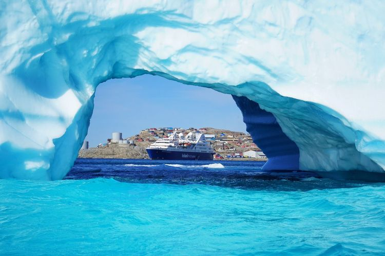 The Window@Greenland Sea Nautical Vessel Water Nature Transportation Waterfront Beauty In Nature Outdoors Winter Cold Temperature Day Scenics No People Sailing Iceberg Sky Iceburg