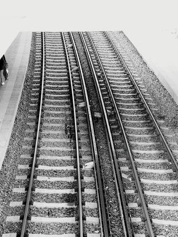 Athens Athens, Greece Rails Subway Station Thisio Blackandwhite Black And White