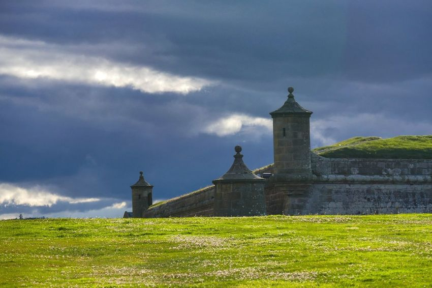 Fort George Scotland Scotland 💕 Scotlandsbeauty Scotland Highlands Fort Fortress Fortified Wall Old Buildings History Sky Architecture Grass Building Exterior Cloud - Sky Tower Office Building Cannon
