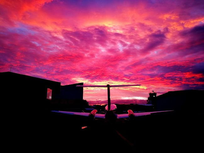Aviationphotography Sunset Night Silhouette Sky Awe Beauty In Nature