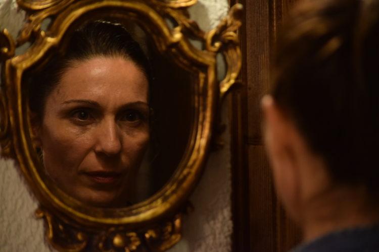 Face In The Mirror Faces Face Reflection Faces Of EyeEm FaceShot Mirror Reflection Mirrorselfie Mirror Effect