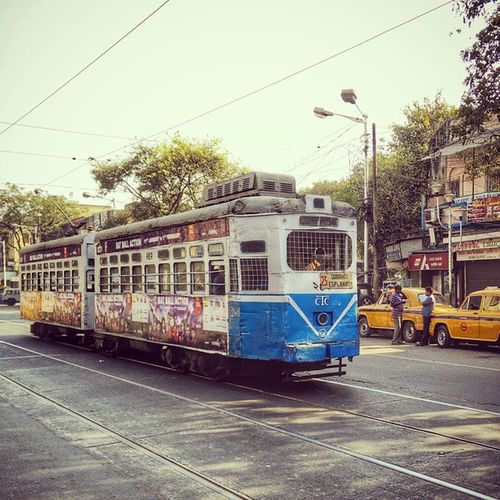 Trams. Uniquely Kolkata. Slowly being phased out though :(
