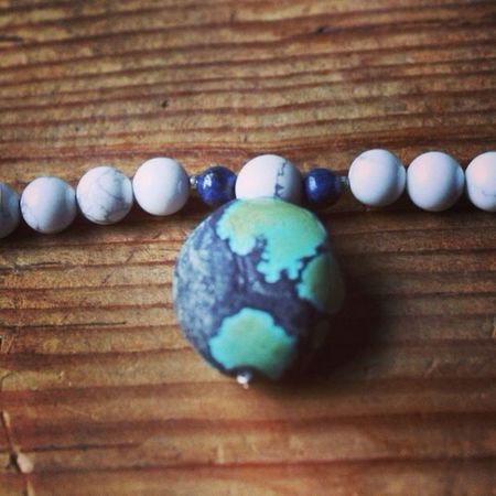 """Sale on all malas! Use coupon code """"khanti"""" for 25% off. Jewelry Lapis Turquoise Necklace"""