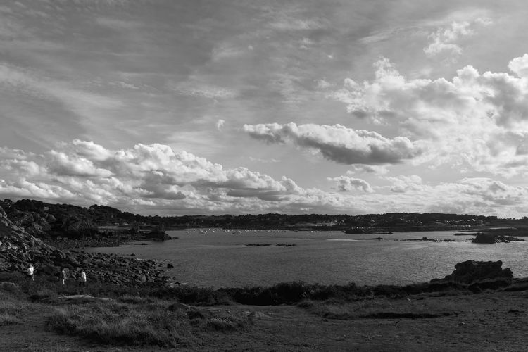 Les voyageurs Brittany Calm Cloudscape Beauty In Nature Blackandwhite Day Fragility Landscape Majestic Nature Outdoors Scenics Sea Sky Tranquil Scene Tranquility Water