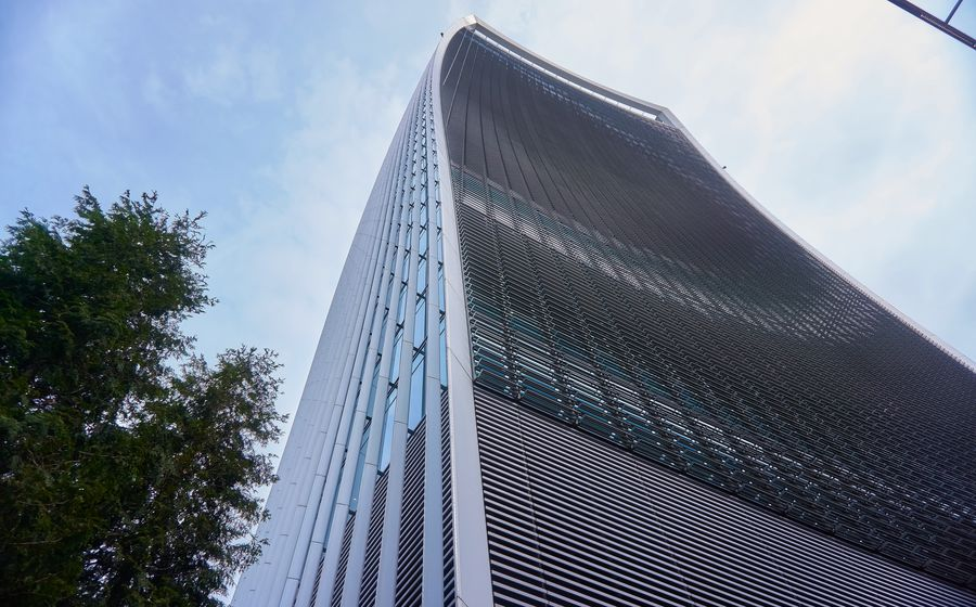 Architecture Building Building Exterior Built Structure City Cloud - Sky Day Glass Glass - Material Low Angle View Modern Nature No People Office Office Building Exterior Outdoors Plant Reflection Sky Skyscraper Tall - High Tree
