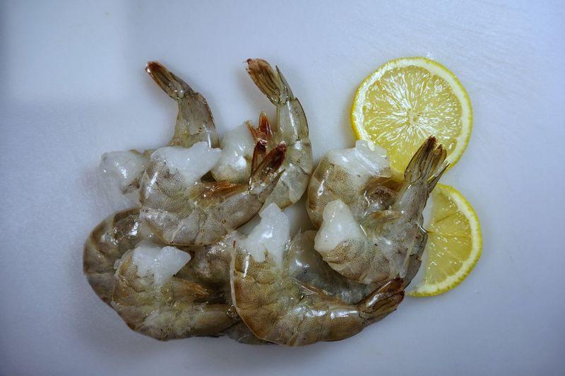 Close-up No People Indoors  Day Prawn Skin On Shrimp Market Freshness