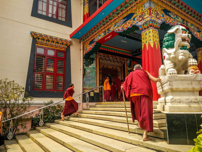 Architecture Buddhism Ceremony Cultures Monestry Monestry Monks Monks In Motion Monks In Temple People Place Of Worship Praying Religion Spirituality Temple Tourism Traditional Clothing Tranquil Scene Travel Travel Destinations