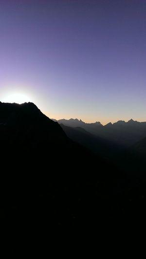 High Altitude Dusk. Alpenglühen E5 Mountains Taking Photos