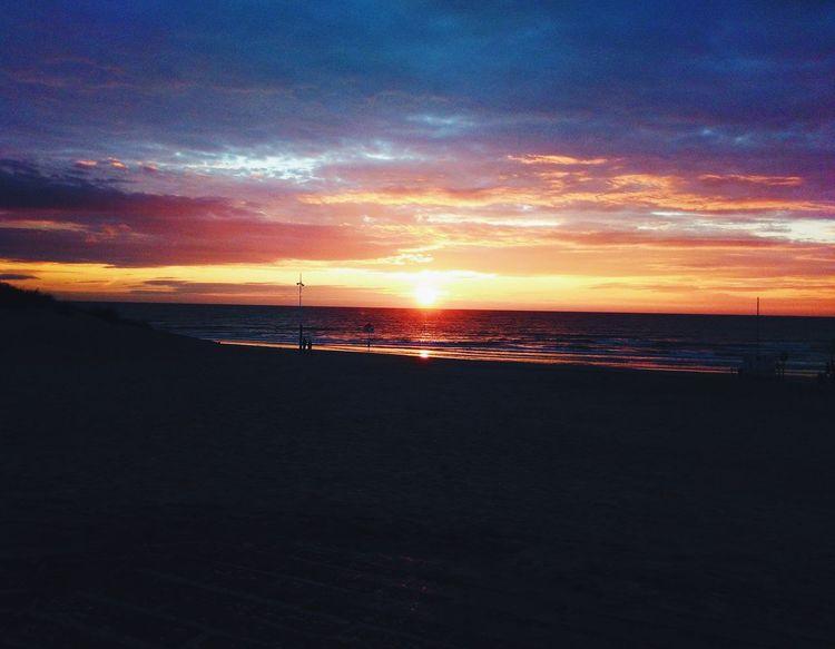 Beach Sunset Sea Sky Blue Belgium De Panne Surf Club First Eyeem Photo