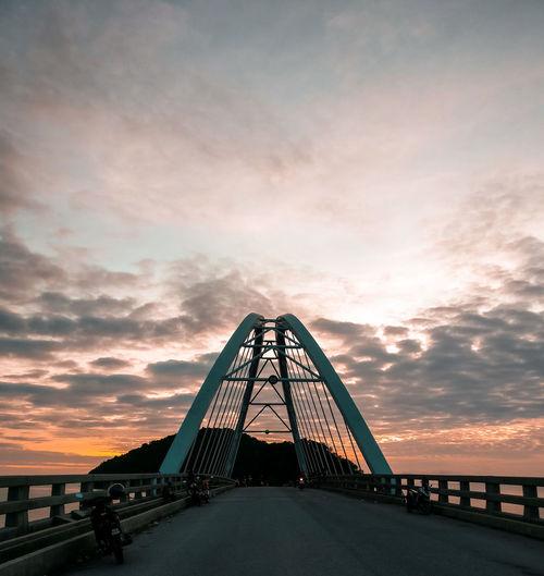Over the bridge. Leisure Sunset Arch Cloud - Sky Evening Sky Evening Light Evening Sun Bridges Water Sunset Horizon Sky Architecture Arch Bridge Dramatic Sky