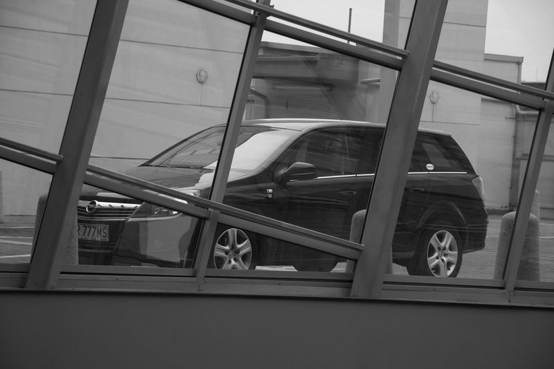 Architecture Astronomy B&w Car Day Indoors  Mode Of Transport No People Opel Astra Public Transportation Transportation Travel