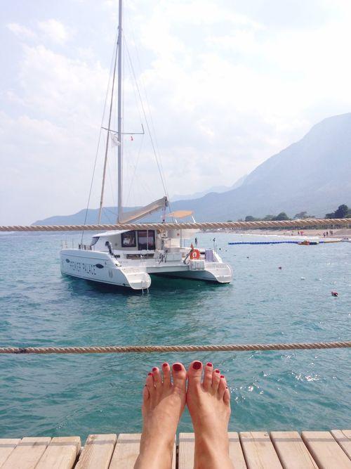 Total relax Enjoying The Sun Sea Sunshine Being A Beach Bum Relaxing Getting A Tan That's Me Catamaran Feet Check This Out