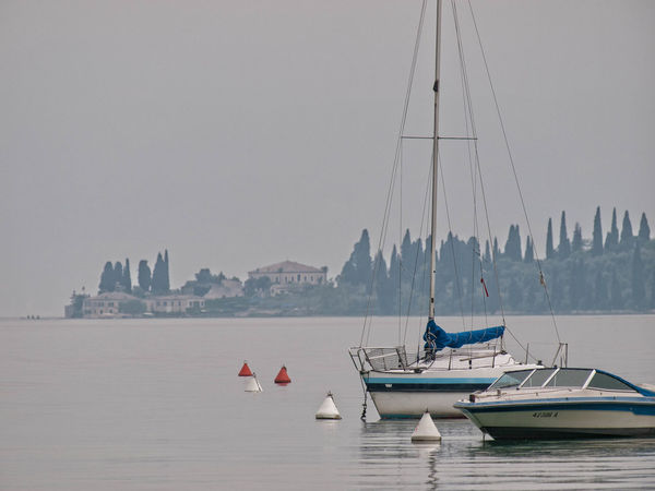 Boat Gardasee Italy No People Sailboat Sailing Tranquility Water