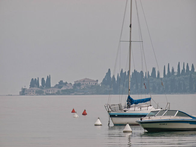 Boat Gardasee Italy No People Sailboat Sailing Tranquility Water