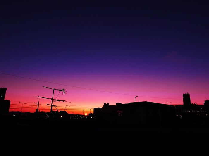 Hometown Sunset Purple