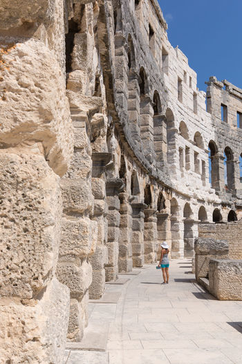 Colosseum Pula,Croatia Activity Ancient Ancient Civilization Arch Archaeology Architecture Building Exterior Built Structure Day History Lifestyles Old Ruin Outdoors The Past Tourism Travel Travel Destinations Young Adult