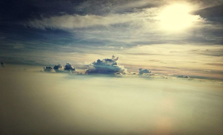 Between the sky EyeEm Best Shots From An Airplane Window Hello World Skyporn