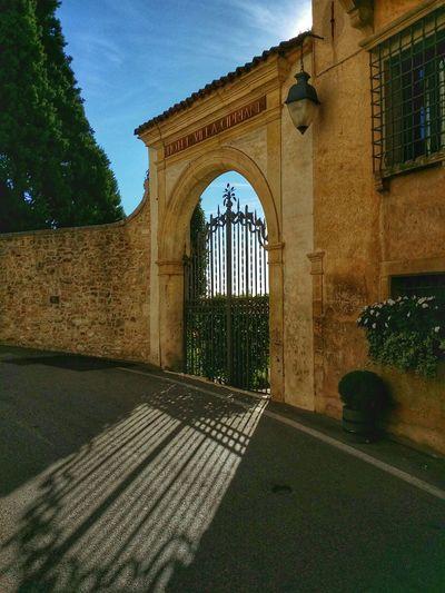 Asolo, Italy Showcase: December Italian Gardens Geometric Design Monumental Gates High Railings Backlight Gorgeous Hills Luxury Mansions