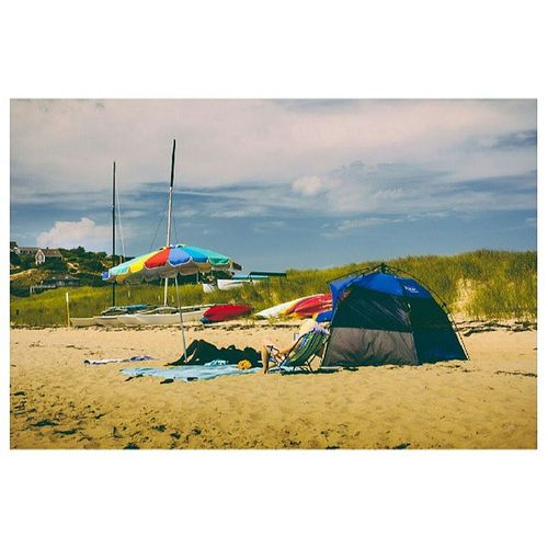 Lethargy on the Beach is tough business. TheNettedPigeon Newenglandsummer vacation beachhouse