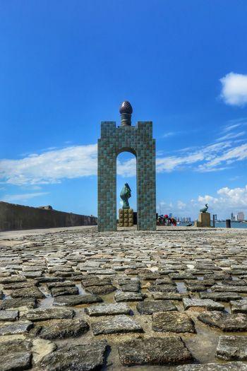 Low Angle View Of Structure At Recife Antigo Against Sky