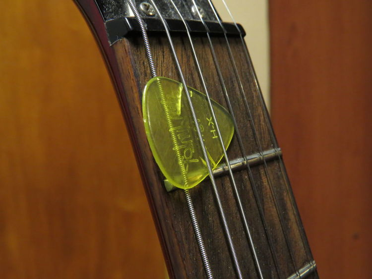 Close-up Focus On Foreground Green Color Guitar Love Guitar Modern My Guitar ♡ No People Plastic Vibrant Color