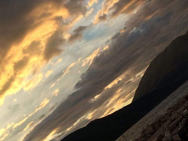 Sami Grecia Cefalonia Sky Cloud - Sky Sunset Beauty In Nature Scenics - Nature Tranquil Scene Tranquility No People Nature Mountain Silhouette Low Angle View Idyllic Outdoors Dramatic Sky Sunlight Orange Color Non-urban Scene Tilt Remote Femalephotographerofthemonth 43GoldenMoments