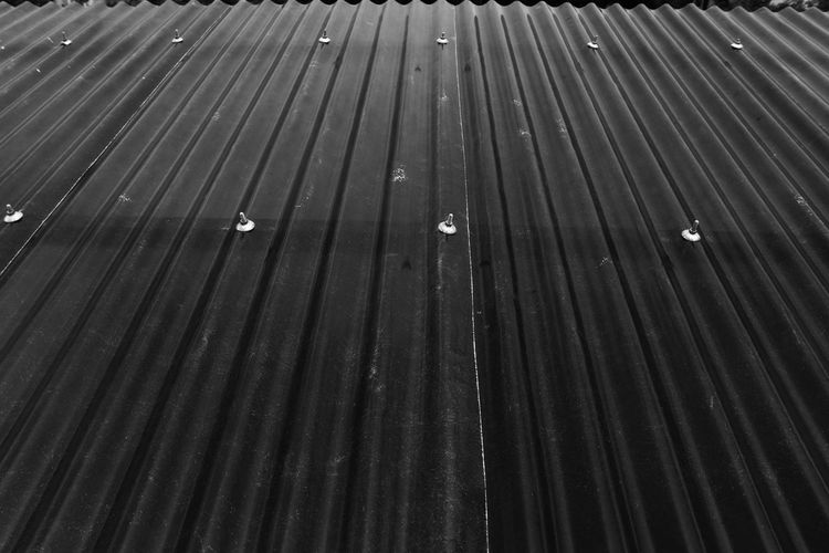 Full frame shot of water drops on roof
