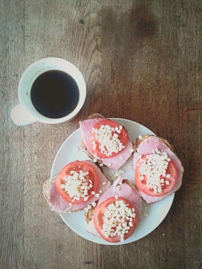 Breakfast Coffee Humburger Morning my breakfast