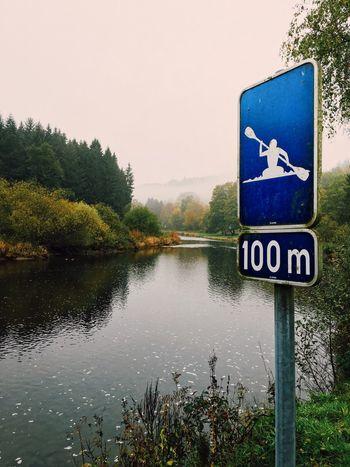 Preparing for a long trip... Riverside Kayaking Signage Signs Foggy Morning Early Morning Walking Around Nature Short Trip Enjoying Nature