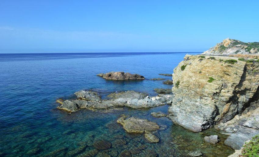 Landscape Landscape_Collection Seascape Water Sea Beach Rock - Object Blue Sky Horizon Over Water