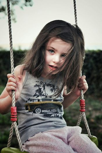 Child One Girl Only Childhood Swing Playground Outdoors Portrait Close-up Rope Swing Portrait Of A Child Enfant Enfance Children Photography Children's Portraits Headshot Happiness Innocence Child Photography Children Portraits Children Only Child Smiling Children Child Portrait Child Photoshoot