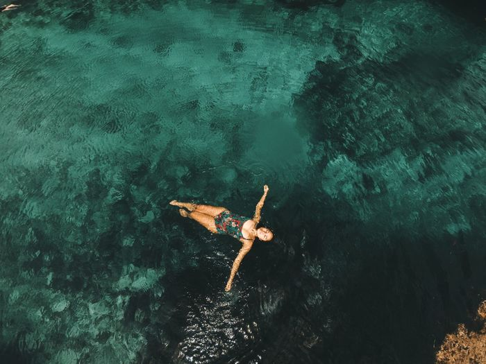 The sea below me, the sky above me. It makes me feel small. It makes me feel free. | Siargao, PH 🇵🇭 EyeEm Best Shots EyeEmNewHere EyeEm Nature Lover Eye4photography  EyeEm Gallery EyeEm Selects EyeEm EyeEmBestPics EyeEm Best Edits Philippines Tropical Paradise Travel Photography Tropical Climate Travel Travel Destinations Ocean Tranquility EyeEm Selects Underwater Sea Water People Nature Outdoors Colour Your Horizn EyeEmNewHere Real People Fun Adventure Lifestyles