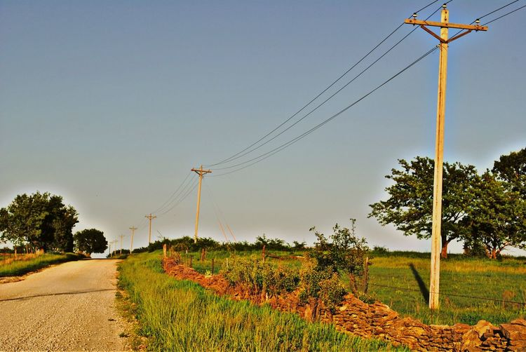 Cable Clear Sky Electricity  Electricity Pylon EyeEm Nature Lover HDR Landscape Landscape_Collection Nature Power Line  Road Sky Telephone Pole Tree The Great Outdoors - 2016 EyeEm Awards The Great Outdoors With Adobe