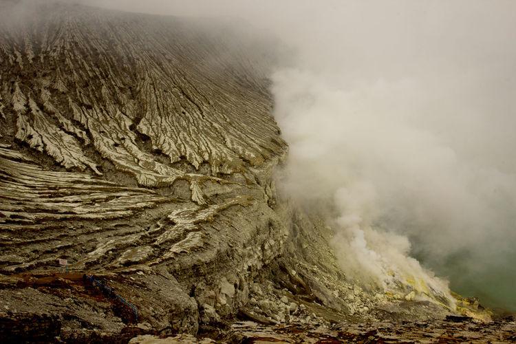 Close-up of volcanic landscape