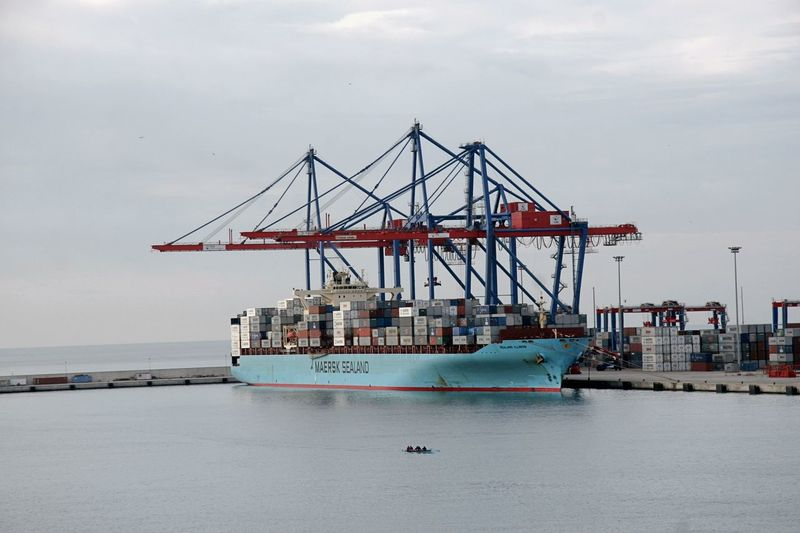 Built Structure Cargo Container Cloud - Sky Commercial Dock Crane - Construction Machinery Day Freight Transportation Harbor Industry Mode Of Transport Nature Nautical Vessel No People Outdoors Sea Shipping  Shipyard Sky Small Versus Big Transportation Water Waterfront