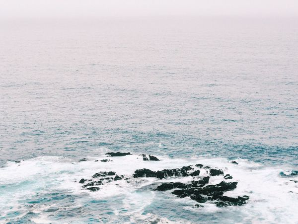 Sea Beauty In Nature Nature Scenics Water Tranquility No People Outdoors Wave Day Cold Temperature Sky