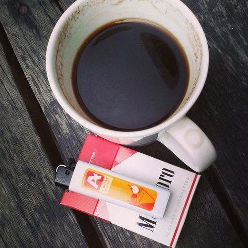 Coffee Break Coffee And Cigarettes Woodwork