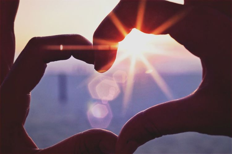 Sun finger Heart Sun Hand Frame Heart Couple Beach Vacation Finger Shape Light Together Sunset Sunrise Nature Faith Believe Like Sign Symbol Rays Lens Flare Health Happy Happiness Meditation
