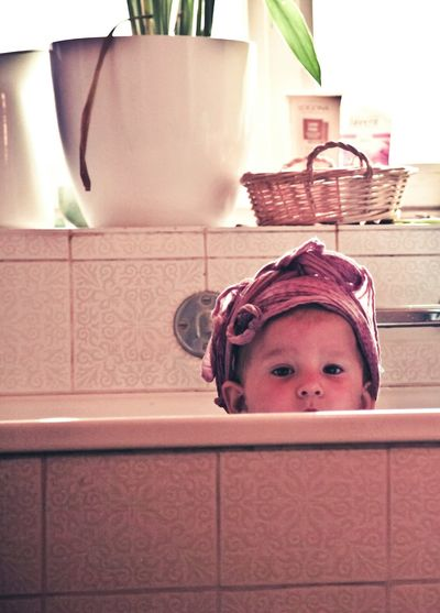 Child Childhood Baby Portrait Eyes Bath Bathtub Bathroom Looking Looking At Camera Cute Pink Color Pink Pot Window Turban Millennial Pink EyeEmNewHere The Secret Spaces Resist Long Goodbye Break The Mold The Portraitist - 2017 EyeEm Awards BYOPaper! Live For The Story Be. Ready. A New Beginning This Is Strength Springtime Decadence