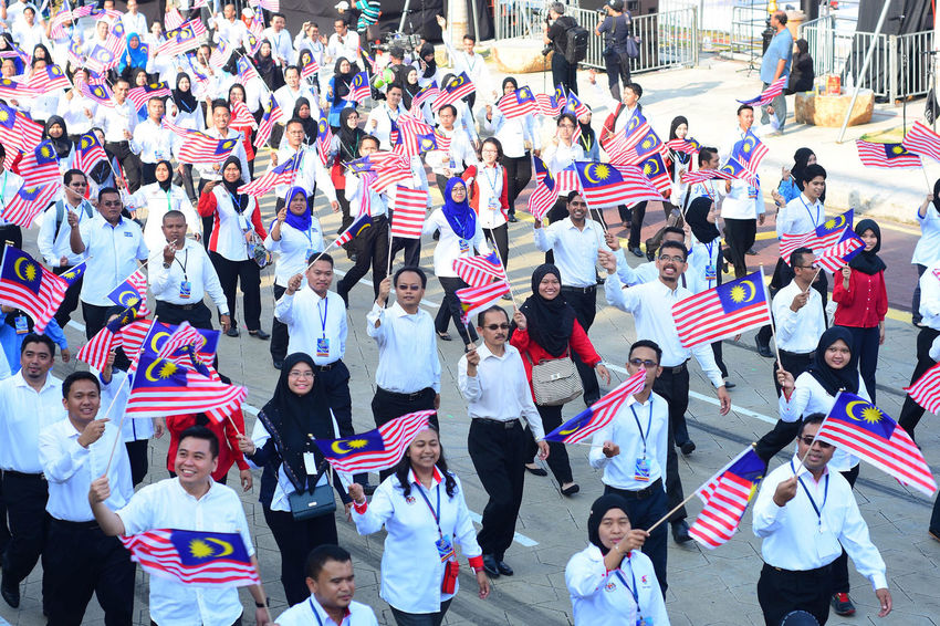 Merdeka Day celebration is held in commemoration of Malaysia's Independence Day at Dataran Merdeka; one of the most colorful events celebrated annually. Celebrate Dataran Female Festival Flag Freedom Independence Day Jalur Gemilang Kuala Lumpur Loyal Malaysia Merdeka Nation National Patriotic Peace Prime Minister Proud Spirit Uniform Uniforms Victory Youth