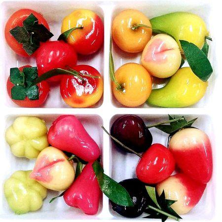 ลูกชุบ | Kanom Look Choup | Thai Dessert Deletable Imitation Fruits Colorful