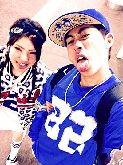 Ari and Yuka  Reminiscing 90's Style HipHop RappaneazCREW MC-Ari check YouTube.