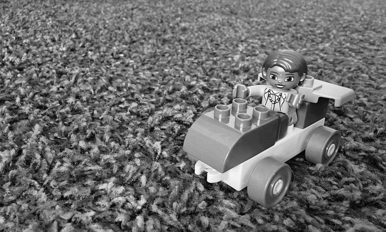 Outdoors Day Childhood Children Toys Fantasy Car Vehicle Duplo IPhoneography Blackandwhite Black And White Black & White Tranquility Non-urban Scene Memories Scenics Rocky